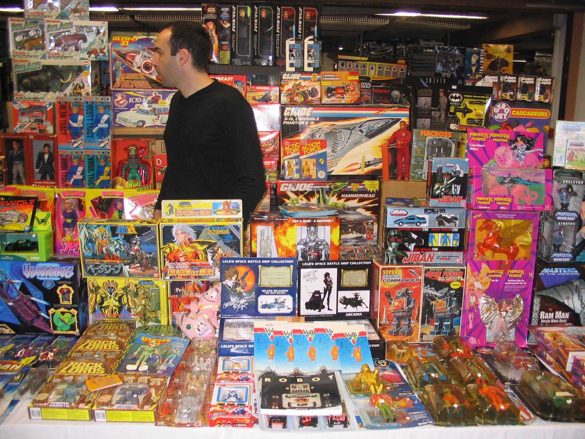Vendre des jouets de collection