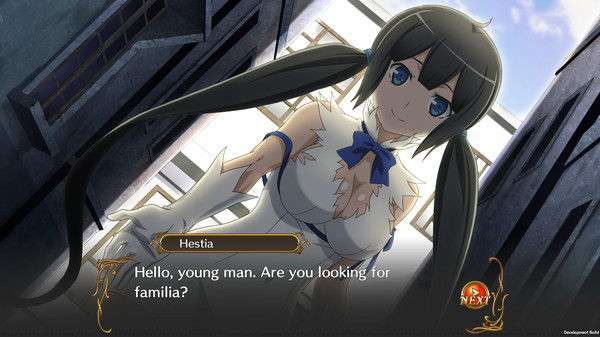 Danmachi Infinite Combate Screen
