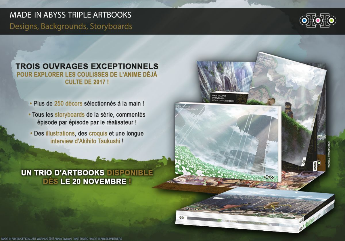 Made In Abyss Triple Artbooks Annonce