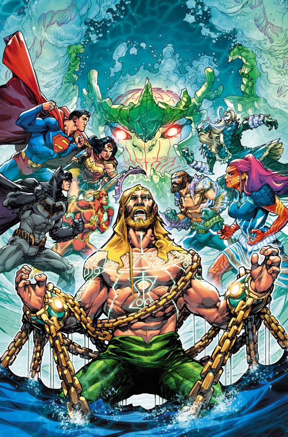 JUSTICE LEAGUE #11 MATTINA AQUAMAN VARIANT DC REBIRTH HOT!!