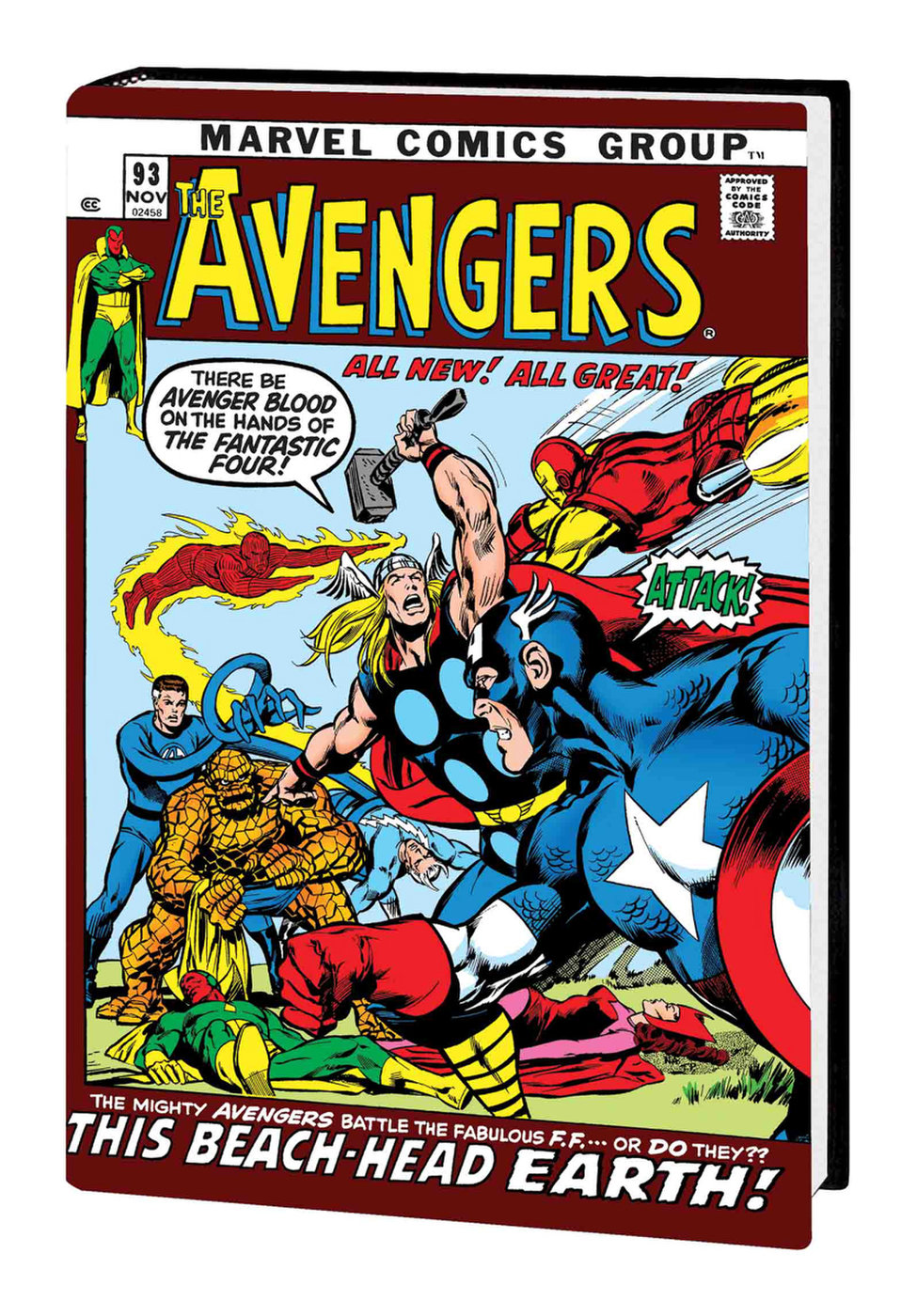 700 McGuinness 1:10 Variant STOCK PHOTO Marvel Comics 2018 Avengers #10